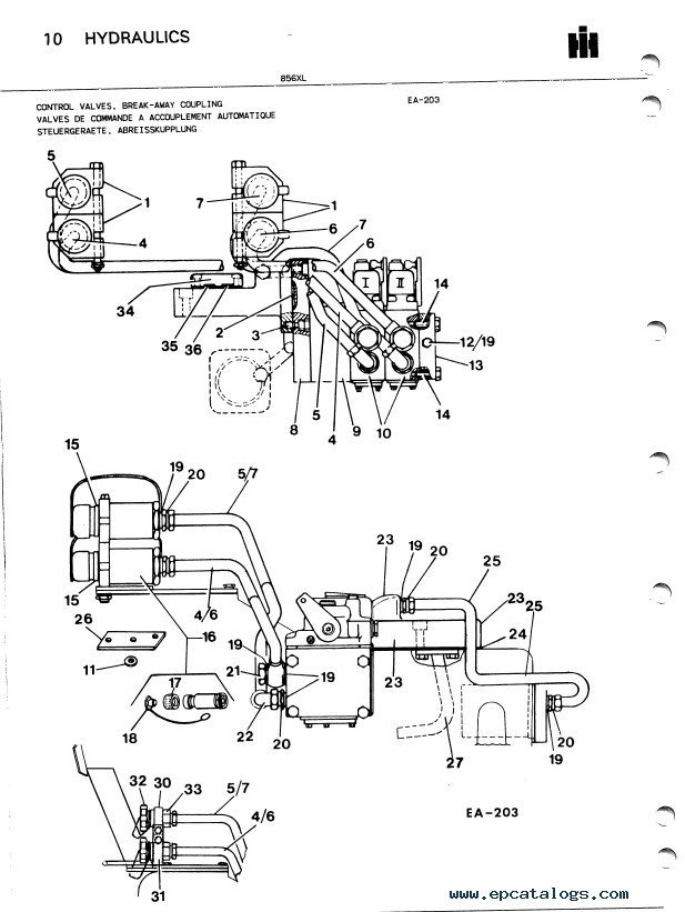 Case 856XL Tractor Parts Book PDF