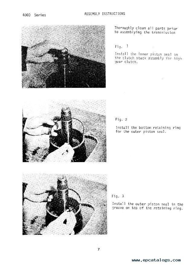 John Deere Series 4000 Short Drop Transmission PDF Manual