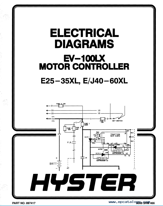 Hyster Class 1 C108 E40-60XL Electric Motor Rider Truck PDF
