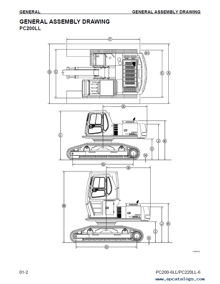Komatsu PC200LL-6, PC220LL-6 Logging Excavator Manual