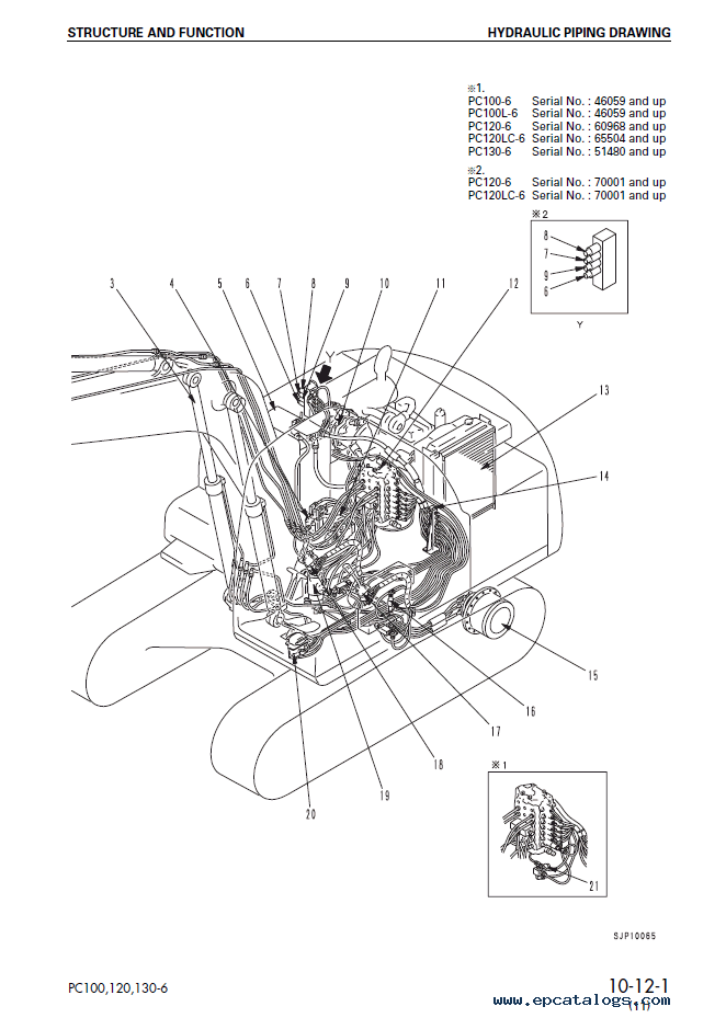 Komatsu Hydraulic Excavator PC100/120/130-6 Set of PDF Manual