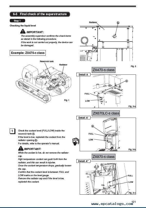 Hitachi ZX470-5 ZX670-5 ZX870-5 Class Assembly Procedure