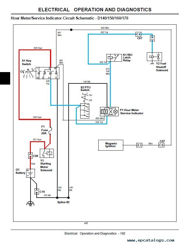 Wiring Diagram For John Deere D130 - Wiring Diagrams Value on