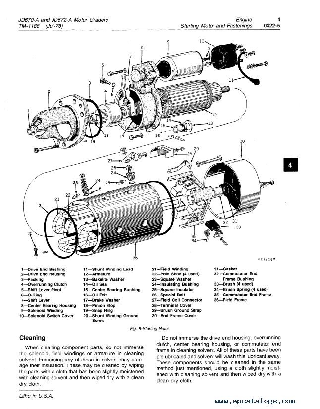 John Deere 670A, 672A Motor Grader Repair TM-1188 PDF