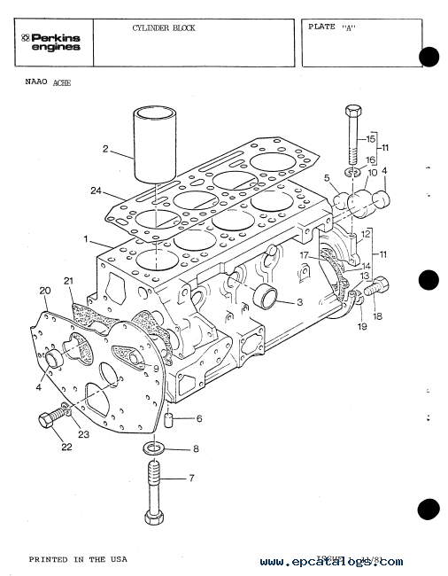 Perkins Fuel Filter Housing