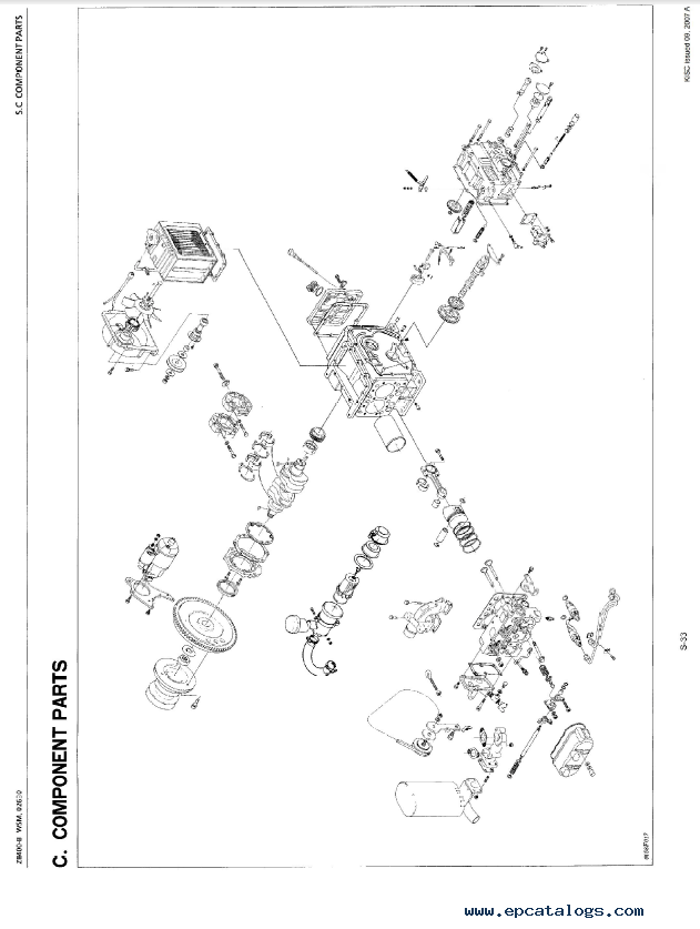 Kubota ZB400-B Diesel Engine Workshop Manual PDF
