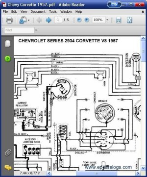 Chevrolet 2934 Corvette V8 1957 Wiring Diagrams Download
