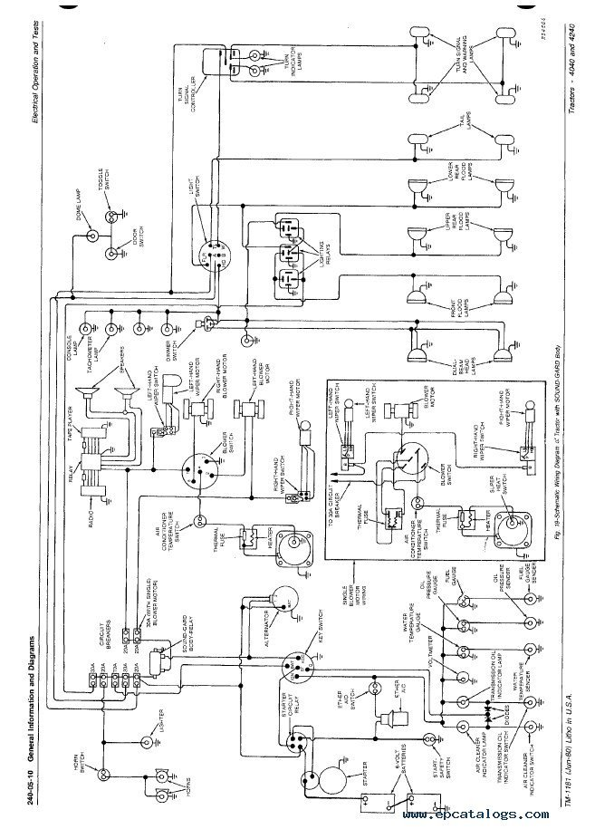John Deere 2630 Wiring Diagram John Deere Tractor Diagrams