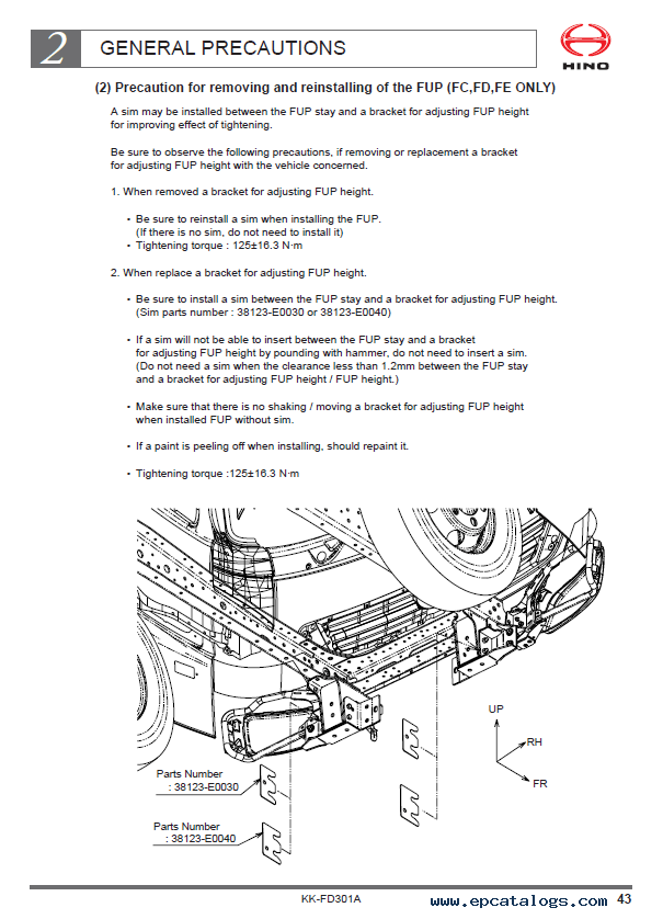 Semi Trailer Wiring Harness Diagram Hino 500 Series Body Mounting Manual Pdf