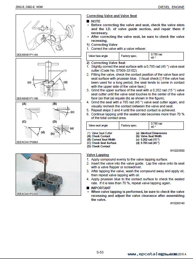 Kubota Z602-E D902-E Engines WSM PDF 9Y011-02183