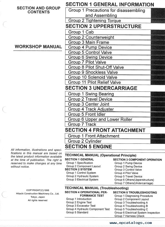 Hitachi EX330LC-5 EX370-5 Excavators W173E-NA PDF