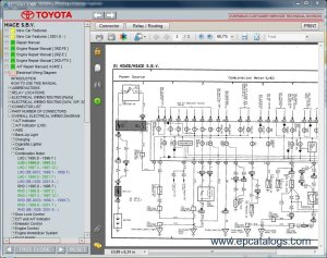 Toyota Hiace SBV, repair manual, Cars Repair Manuals