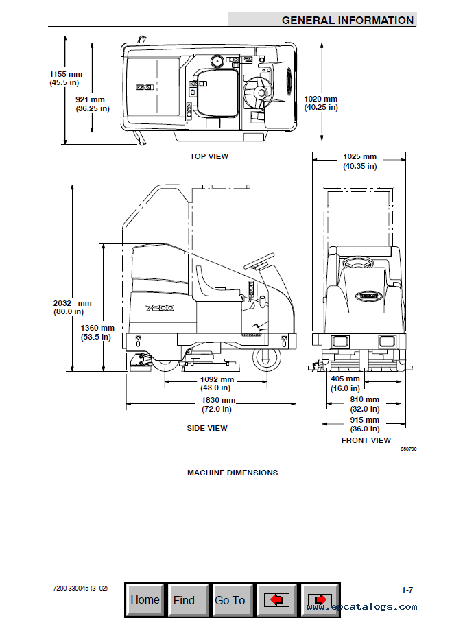 Tennant 7200 Scrubber Service Manual PDF