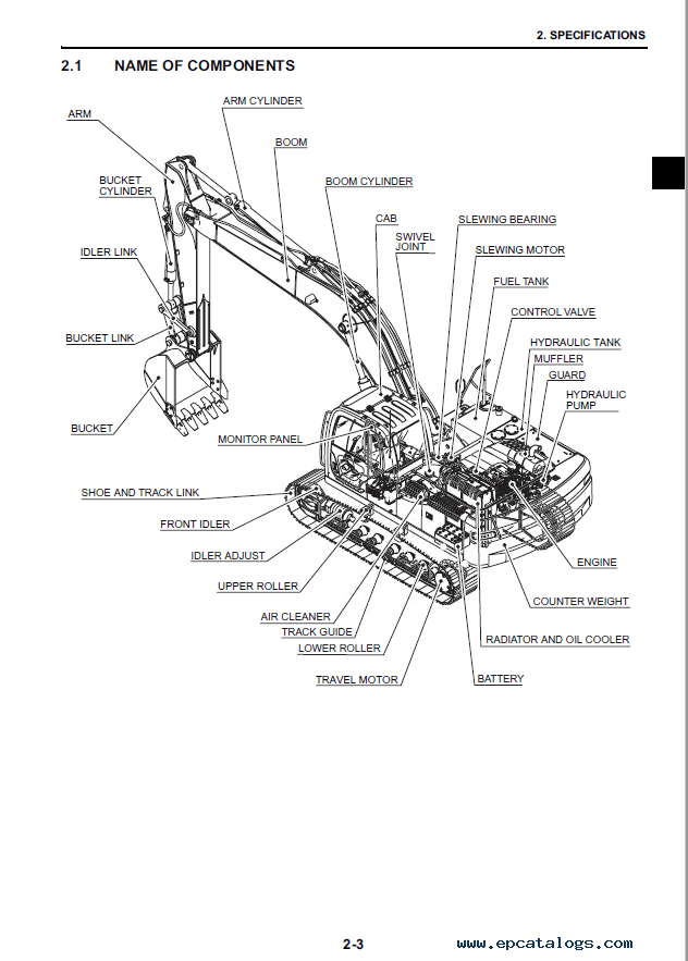New Holland E265BJ Crawler Excavator Workshop Manual PDF