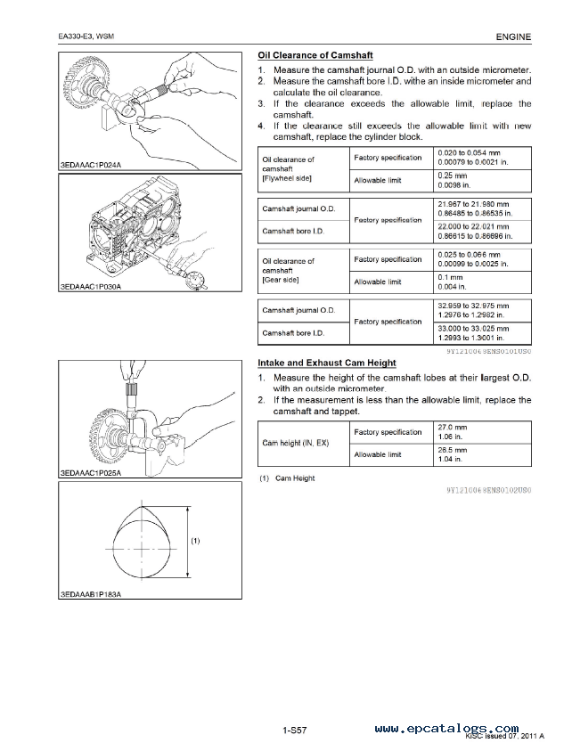 Kubota EA330-E3 Series Diesel Engine Workshop Manual PDF