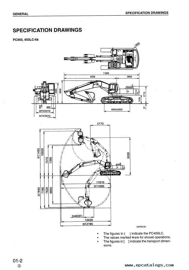 Komatsu PC450-6K & PC450LC-6K Hydraulic Excavator PDF