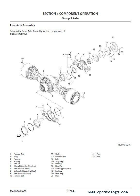 Hitachi Wheel Loader ZW550-6 Operational Principle Technical