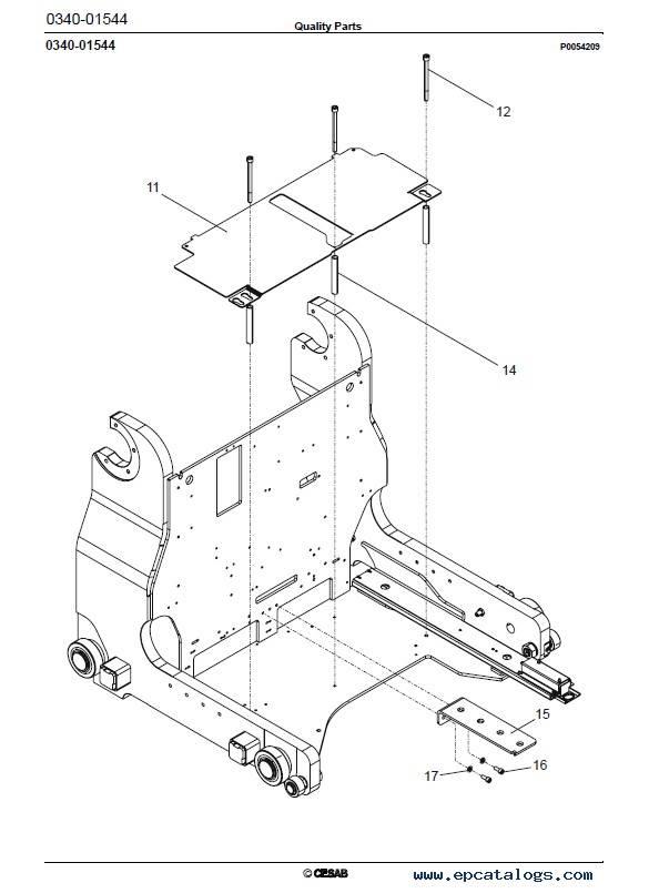 Cesab Reachtrucks R314/316CC Quality Parts Manual PDF