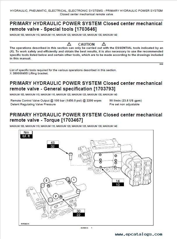 Download Case 100/110/115/120/125/130/140 Maxxum PDF