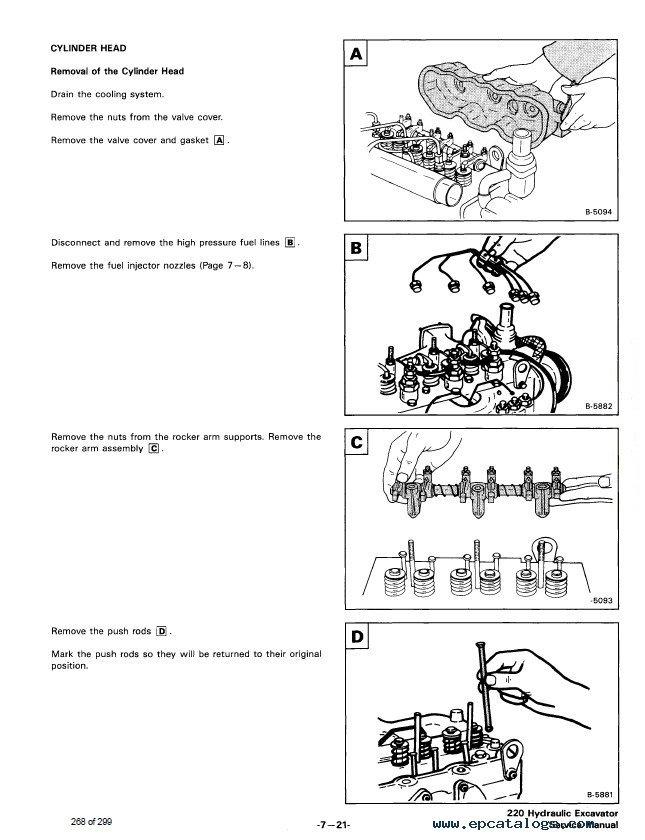 Bobcat 220 Hydraulic Excavator Service Manual PDF
