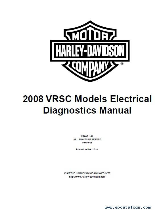 Harley Davidson VRSC 2008 Diagnostic Service Manual PDF