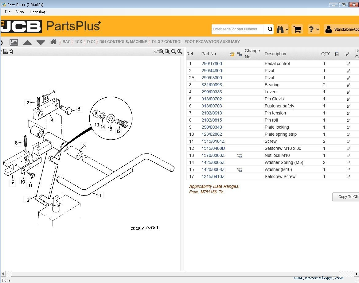 hight resolution of spare parts catalog jcb partsplus electronic parts catalog v2 2 00 0004 2017