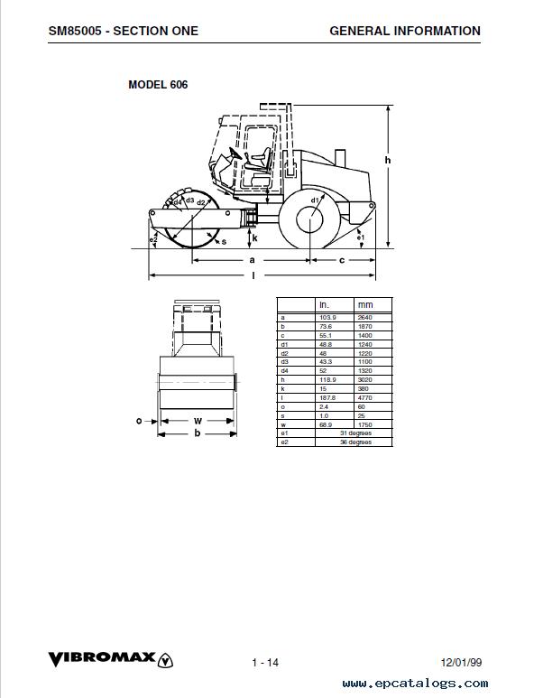 JCB Vibromax 405 605 606 Single Drum Rollers SM85005 PDF