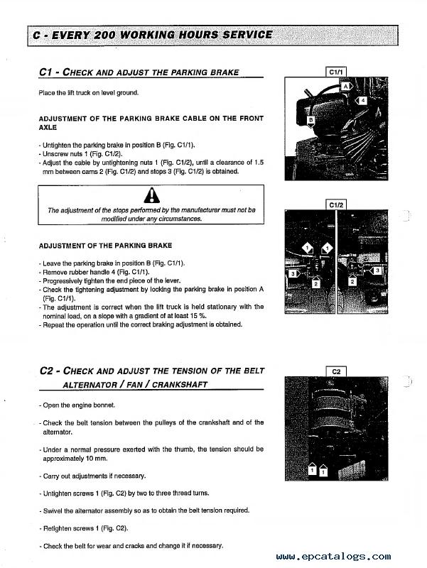 Service Manual Wiring Diagram Manitou Forklift Spare Parts Catalogue Repair Manuals