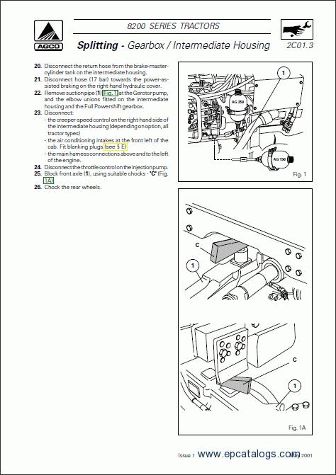 Massey Ferguson tractors 8200 series Workshop manual Download