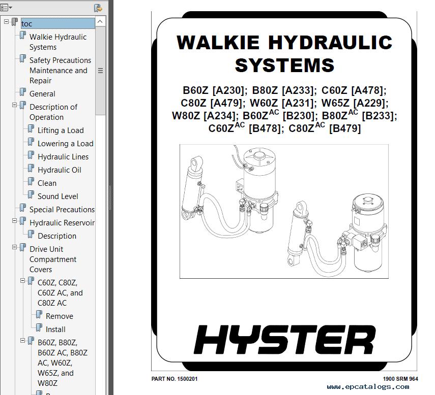 Hyster Class 3 B478 C60ZAC Electric Motor Hand Trucks PDF