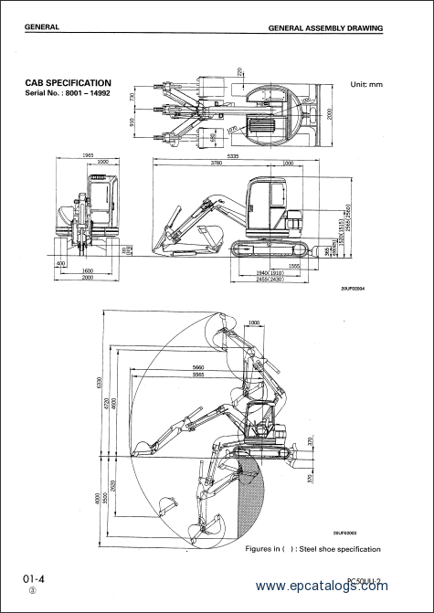 Komatsu Hydraulic Excavator PC50UU-2, repair manual