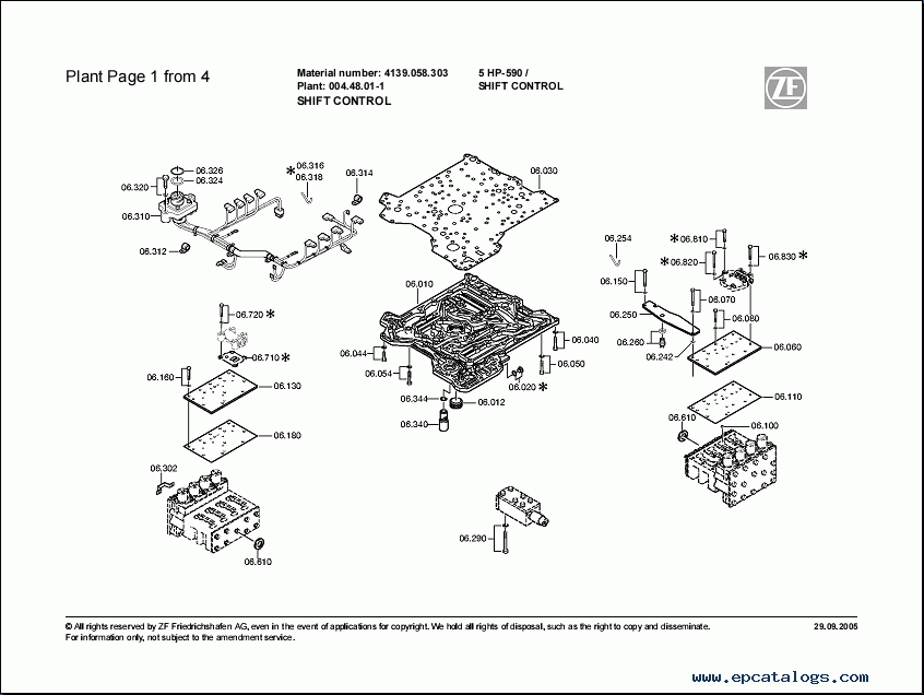ZF 5HP-590 Spare Parts Catalog Download