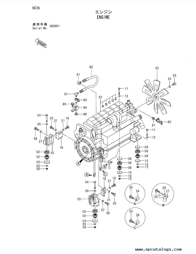 Hitachi EX1200-5C Excavator Parts Catalog (P18E-2-1A) PDF