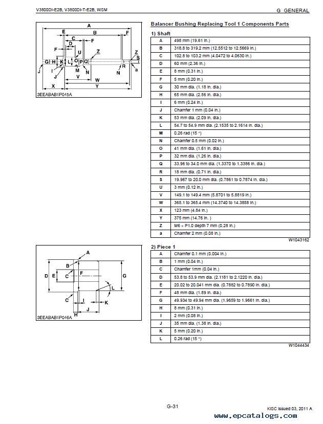 Kubota V3800DI-E2B V3800DI-T-E2B Diesel Engines PDF