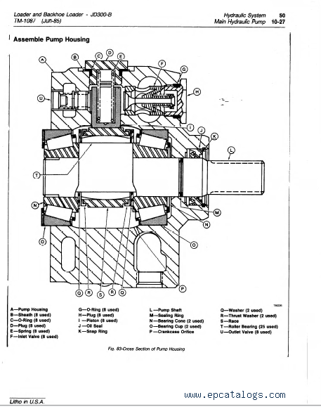 John Deere JD300-B Loader & Backhoe Loader TM1087 PDF
