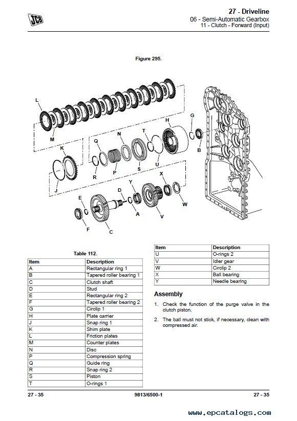JCB Loader 419S Service Manual PDF Download