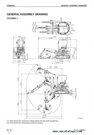 Komatsu PC27/30/35/40/45MRX-1 Shop Manual PDF