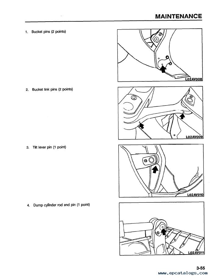 Komatsu Wheel Loader WA500-1LC Manual PDF Download