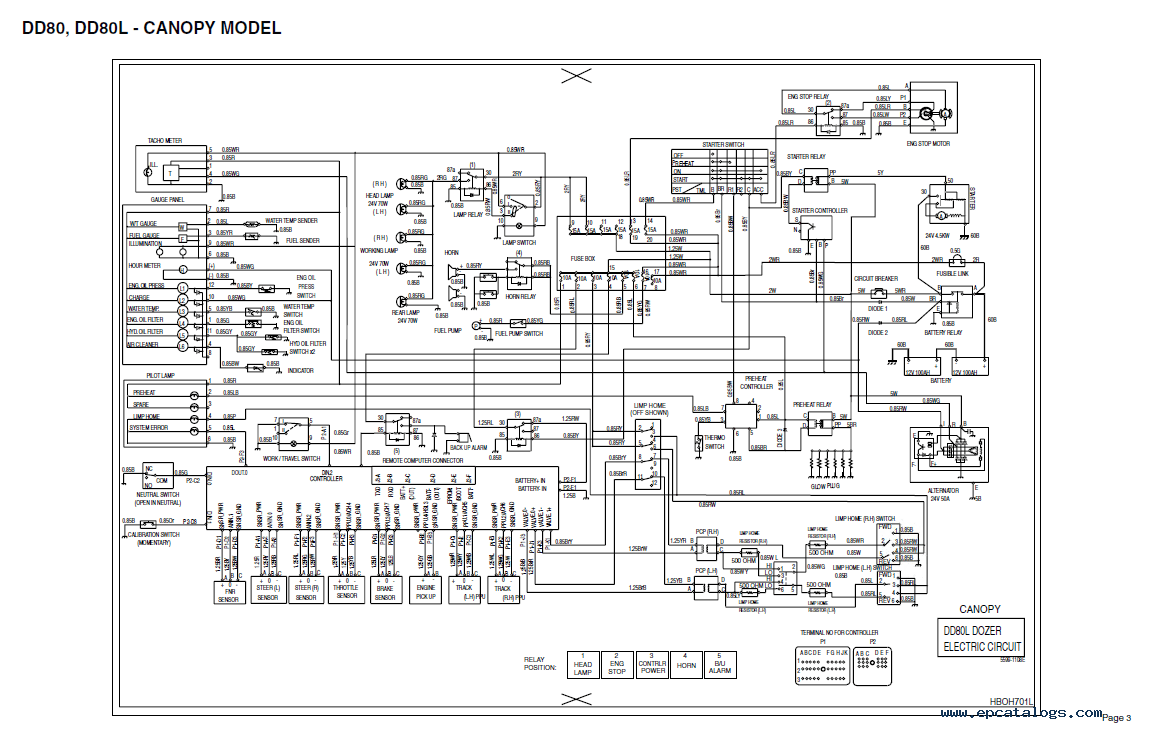 daewoo g255 2 forklift wiring diagram