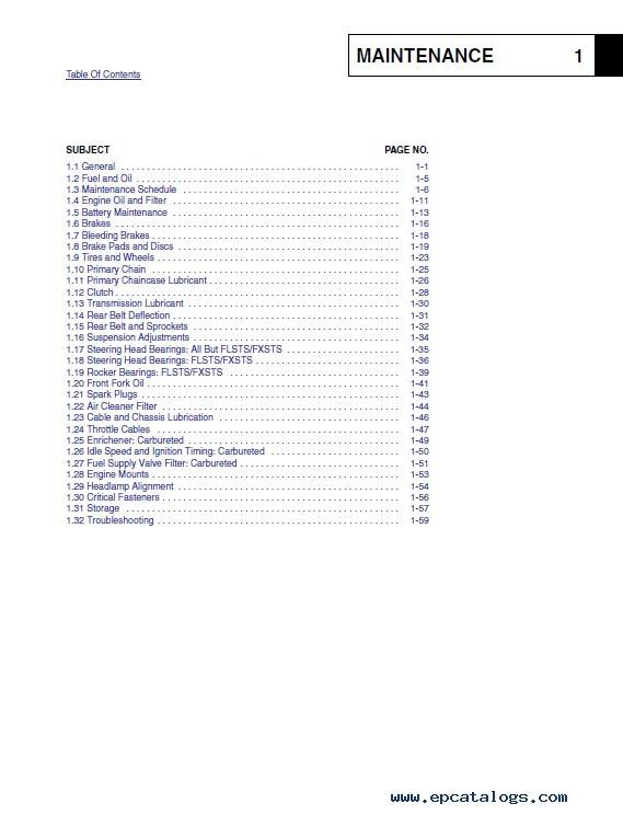 Harley Davidson Softail 2003 Service Diagnostics Manual PDF