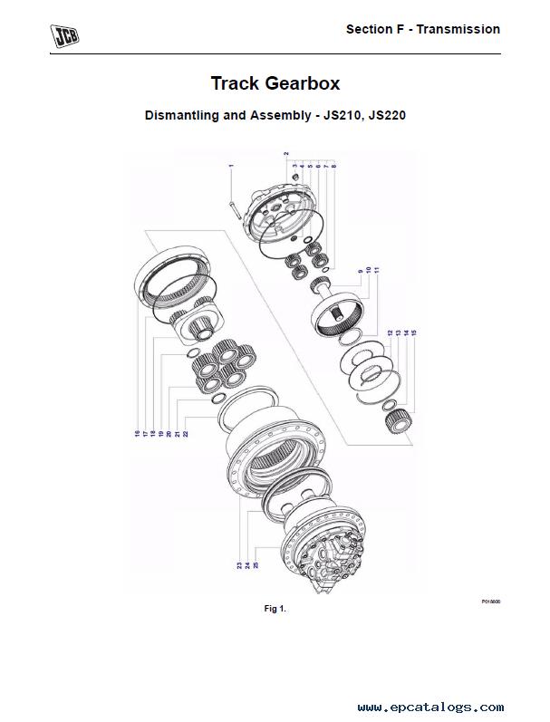 Download JCB Excavators JS210/220 JCB Engine Service