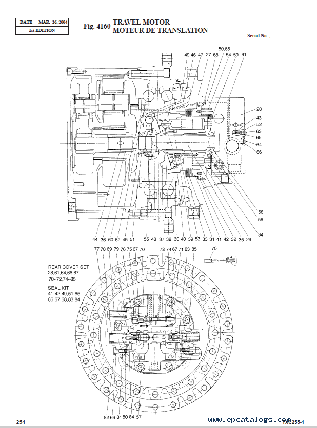 Terex TXC 255LC-1 Hydraulic Excavator Parts Manual PDF