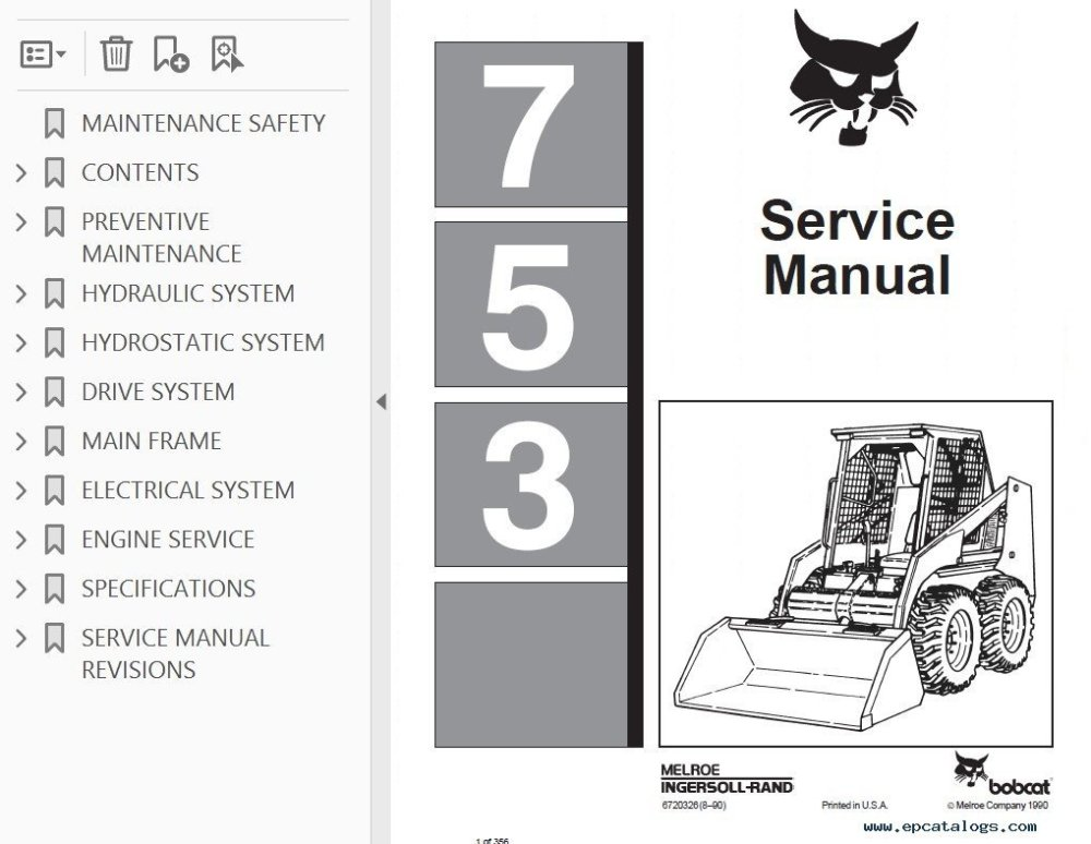 medium resolution of bobcat 753 loader service manual pdf 753 bobcat ingntion wiring diagram wiring diagrams bobcat 753 ignition