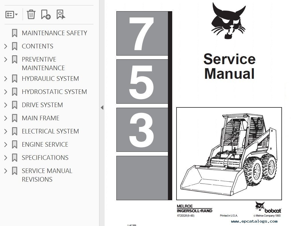 hight resolution of bobcat 753 loader service manual pdf 753 bobcat ingntion wiring diagram wiring diagrams bobcat 753 ignition