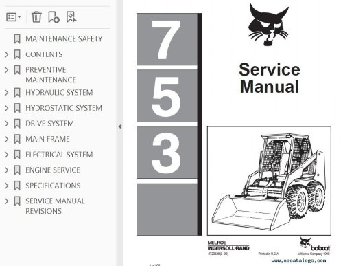 small resolution of bobcat 753 loader service manual pdf 753 bobcat ingntion wiring diagram wiring diagrams bobcat 753 ignition