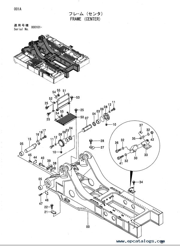 Hitachi EX5500 Excavator Parts Catalog (PI8A-I-3) PDF