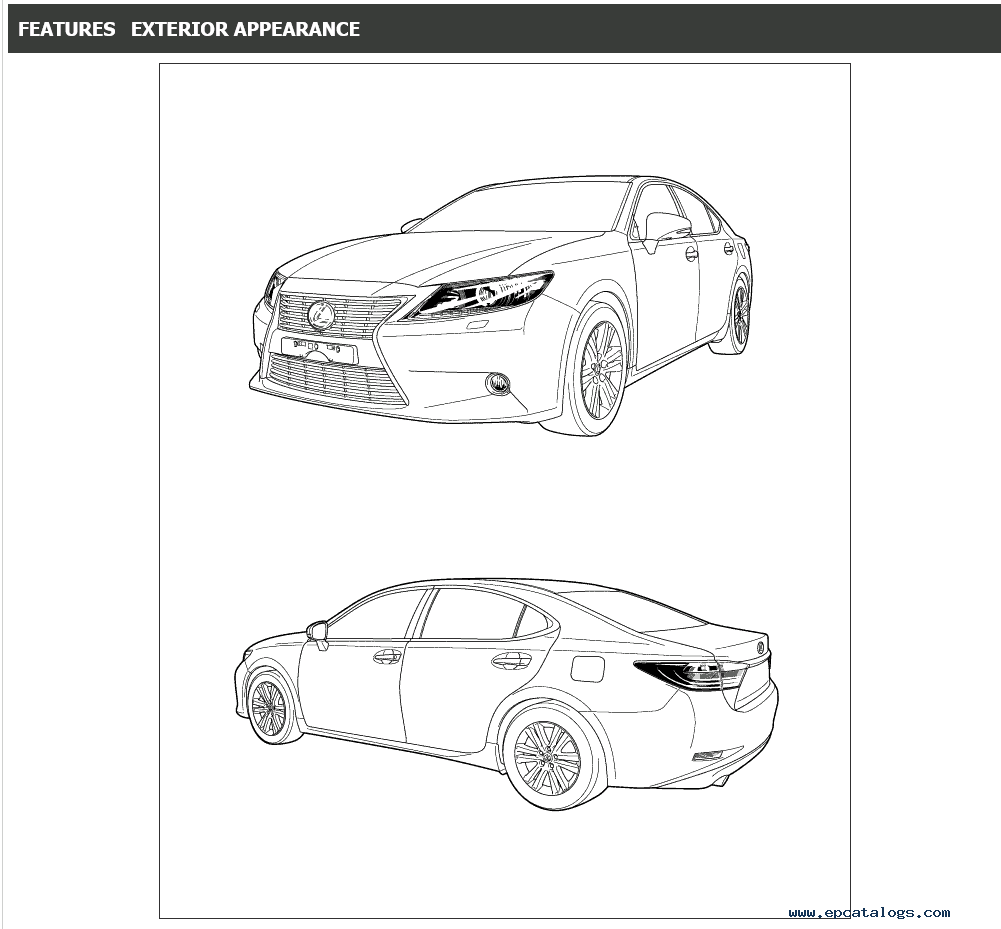 Lexus ES250/ES350 Service Manual 06/2012-06/2015 Download