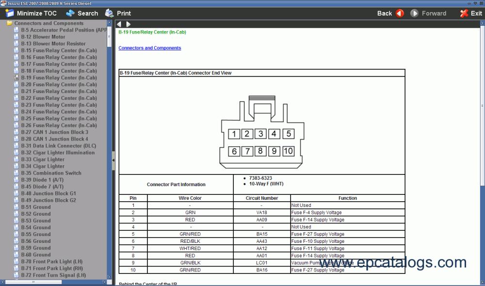 medium resolution of isuzu npr diesel 5 2l n series 2004 isuzu npr blower motor wiring diagram 1998 isuzu