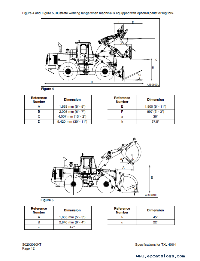 Terex TXL 400-1 Wheel Loader Shop Manual PDF