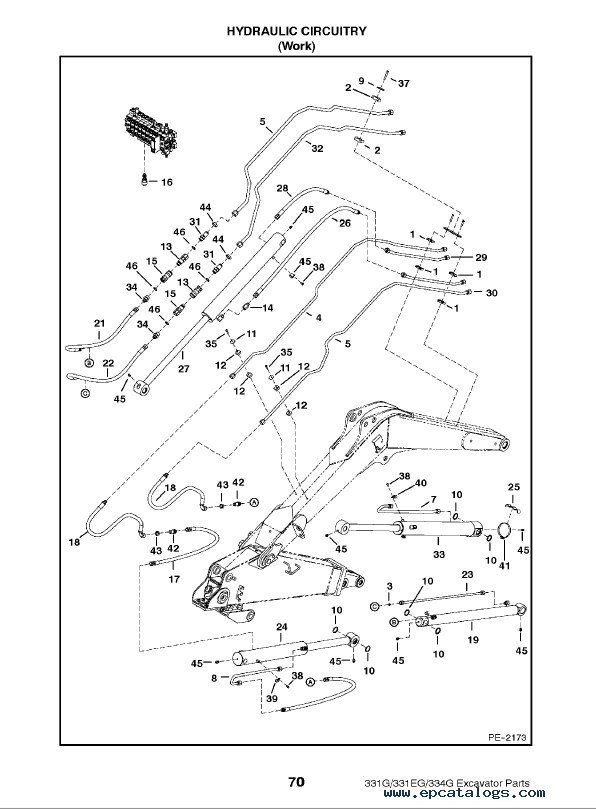 Bobcat 331 & 331E & 334 G-Series Excavator Parts Manual